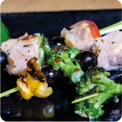 skewer with olives